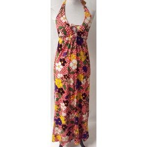 Yellow /Red Vintage Maxi Dress Size Small